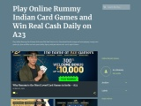 Play A23 Indian Rummy Card Games Online and Win Real Cash Daily