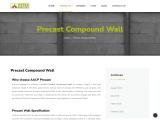 Precast compound wall in Chennai