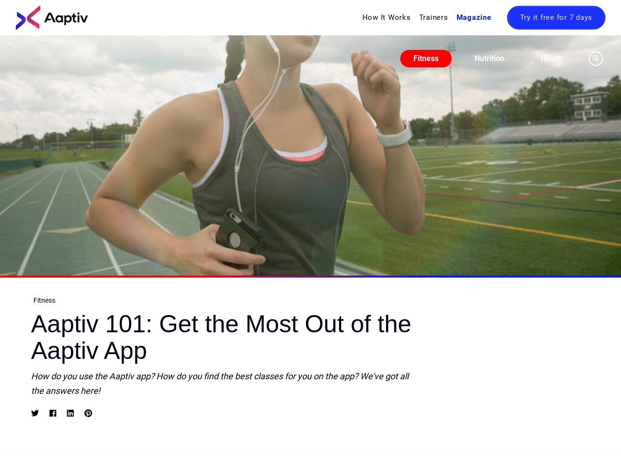 Aaptiv 101: Get the Most Out of the Aaptiv App – Aaptiv