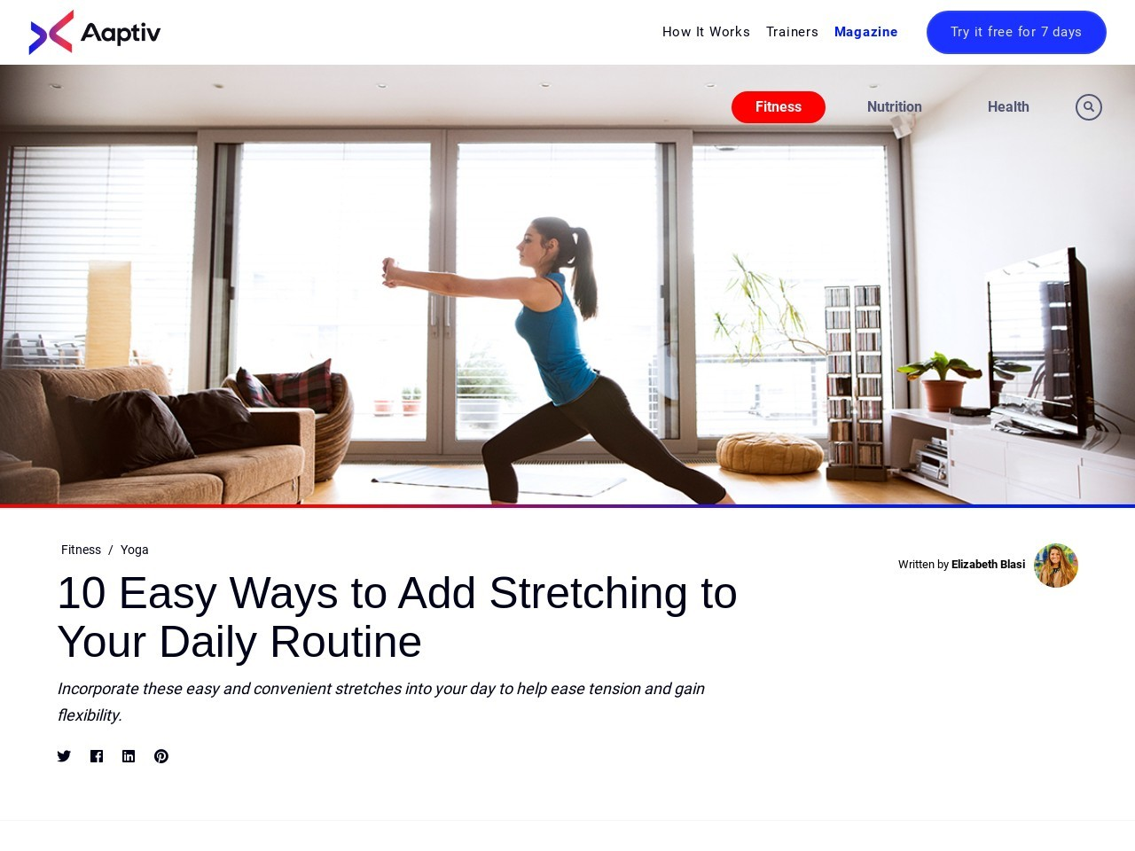 10 Easy Ways to Add Stretching to Your Daily Routine – Aaptiv
