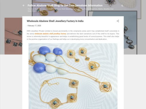 Wholesale Abalone Shell Jewellery Factory in India