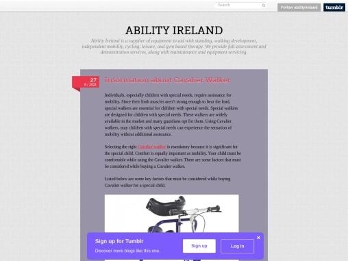 Information about Cavalier walker