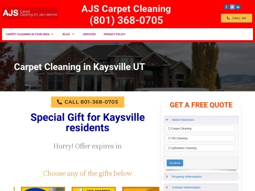 Carpet Cleaning in Kaysville UT