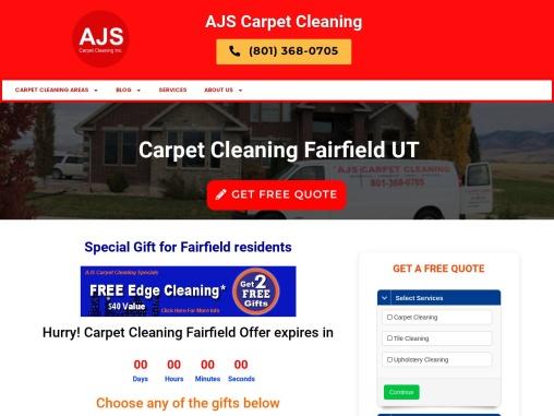 AJS Carpet Cleaning Fairfield Utah 84013