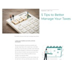 5 Tips to Better Manage Your Taxes