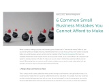 6 Common Small Business Mistakes You Cannot Afford to Make