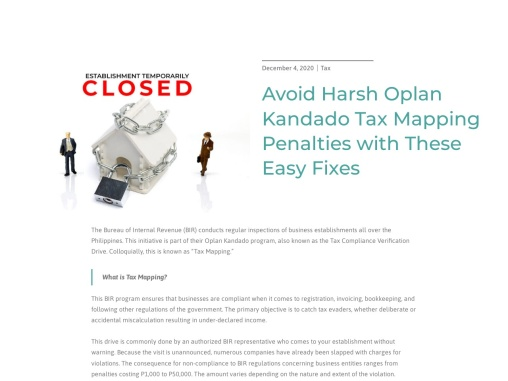 Avoid Harsh Oplan Kandado Tax Mapping Penalties with These Easy Fixes