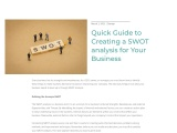 Quick Guide to Creating a SWOT analysis for Your Business