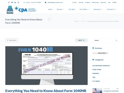 Everything You Need to Know About Form 1040NR