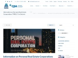 Information on Personal Real Estate Corporations in Ontario