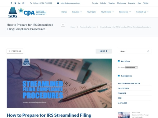 How to Prepare for IRS Streamlined Filing Compliance Procedures