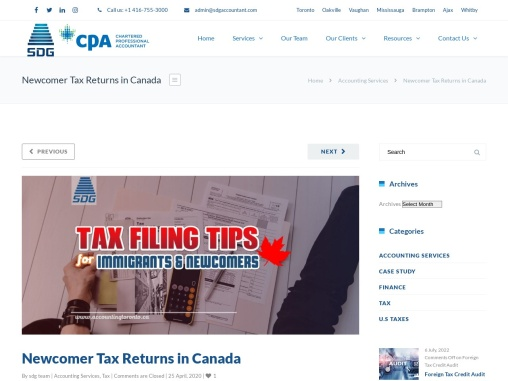 Tax Filing for Immigrants & Newcomers