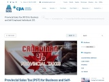 Provincial Sales Tax (PST) for Business and Self-Employed Individuals 101