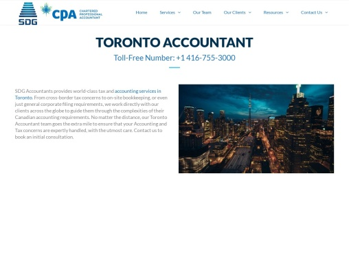 Toronto Accountant – SDG Accountant