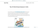 Top 10 Advertising Company in India | Best Advertising Company in Noida