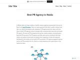 Best PR Company in Noida | Best PR Agency in India