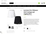 Lacrosse 2 In 1 Women Anti-Leakage and Jogging Skirt