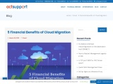 5 Financial Benefits of Cloud Migration