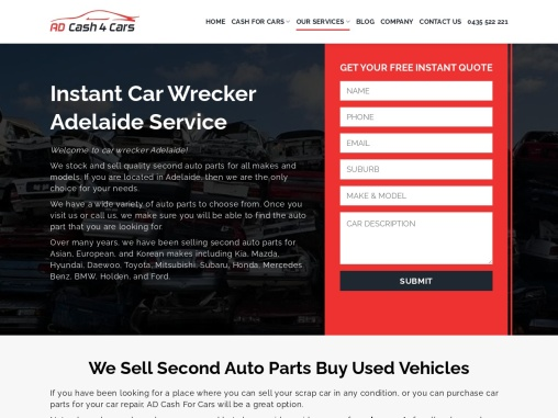 car wrecker Adelaide   adcash4cars