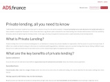 What is private mortgage lending?