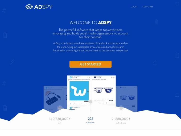 AdSpy screenshot