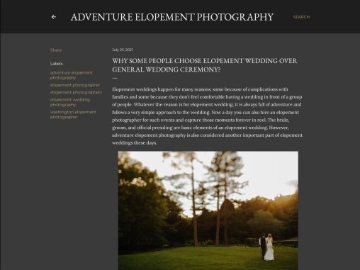 Why Some People Choose Elopement Wedding Over General Wedding Ceremony?