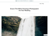 Ensure This While Choosing A Photographer For Your Wedding