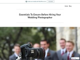 Essentials to Ensure Before Hiring Your Wedding Photographer