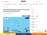 Top 10 Most Popular Courses in Australia for International Students
