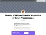 Affiliate LinkedIn Automation Software  Key Points to Keep In Mind When Joining An Affiliate Program