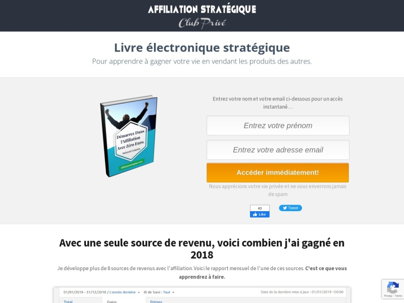 affiliation strategique : de zero a 3000 euros