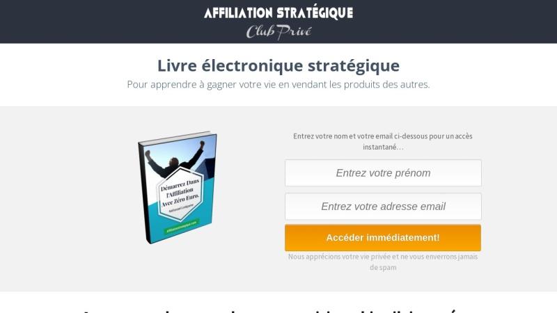 affiliation strategique  de zero a 3000 euros