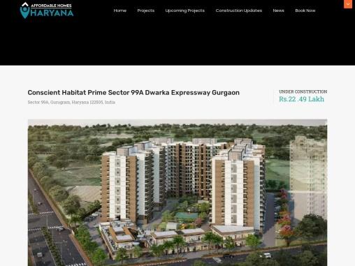 Conscient Habitat Prime Sector 99A Dwarka Expressway Gurgaon