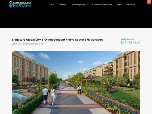 Signature Global City 37D Independent Floors Sector 37D Gurgaon