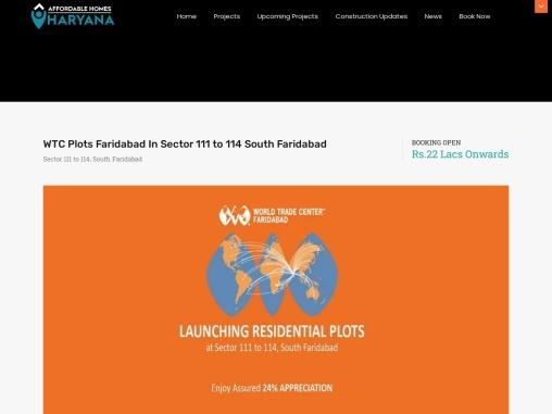WTC Plots Faridabad In Sector 111 to 114 South Faridabad