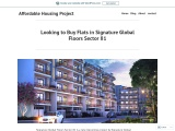 Looking to Buy Flats in Signature Global Floors Sector 81