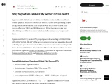 Why Signature Global City Sector 37D is Best?