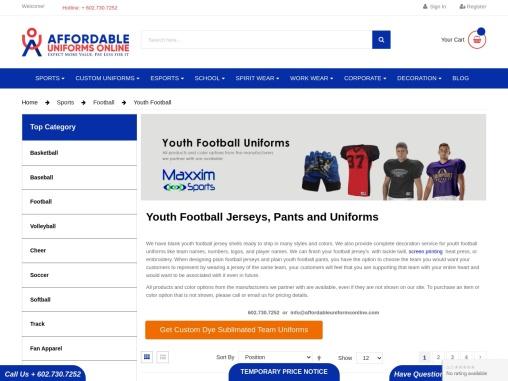 Youth Football Uniforms| Youth Football Pants