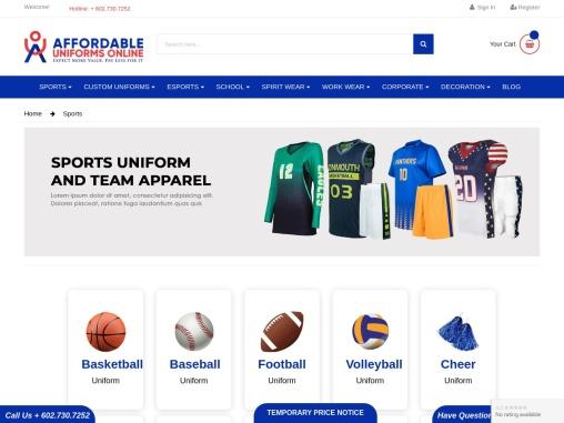 Sports Uniforms – Affordable Uniforms Online