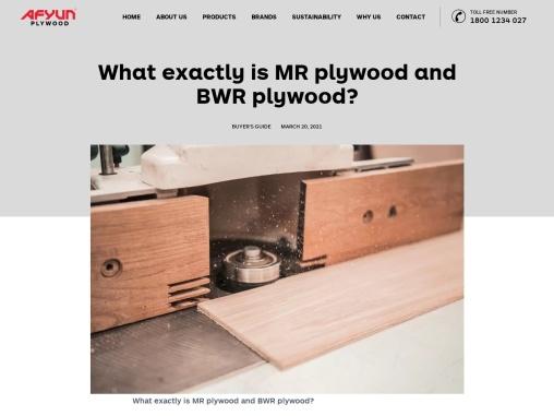MR Plywood Manufacturers – Afyun
