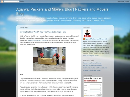 Agarwal Packers and Movers Blog | Packers and Movers Blog