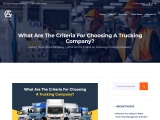 What Are The Criteria For Choosing A Trucking Company?
