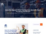 How Do Haulers And Contractors Benefit From Trucking Services?