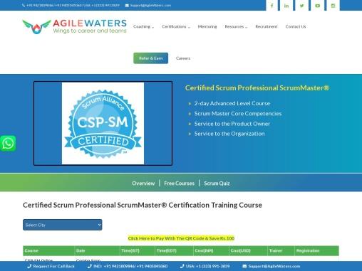 Certified Scrum Professional ScrumMaster(CSP-SM) Online Training