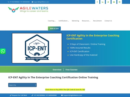 Agility in the Enterprise (ICP-ENT) Certification Training