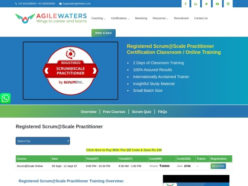 Certified Scrum@Scale Practitioner Certification Training