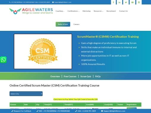 Scrum Master Certification Online Training