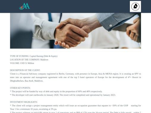 Capital raising Advisory in Maldives | Financial Advisory Company in Berlin, Germany, Europe