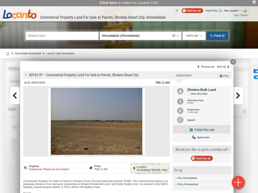 Commercial Property Land For Sale at Panchi, Dholera Smart City