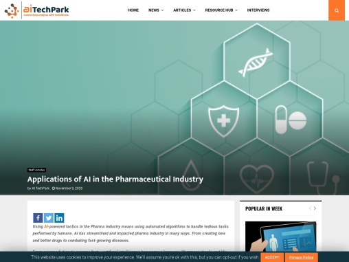 Applications of AI in the Pharmaceutical Industry